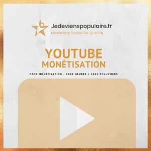 acheter 4000 heures et 1000 followers YouTube
