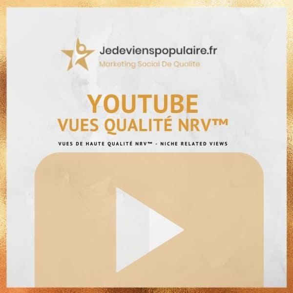 acheter vues YouTube NRV
