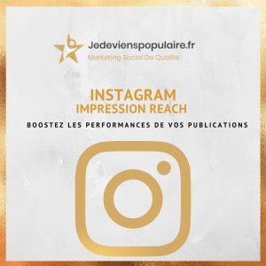 acheter des impressions & reach instagram